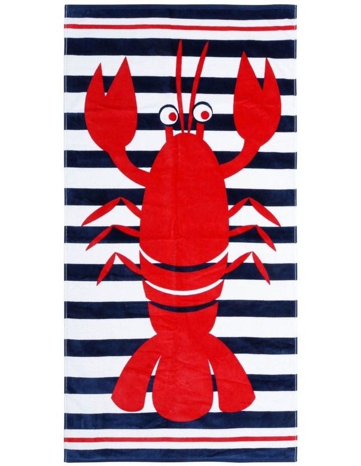 Pinchy Lobster Beach Towel image 1
