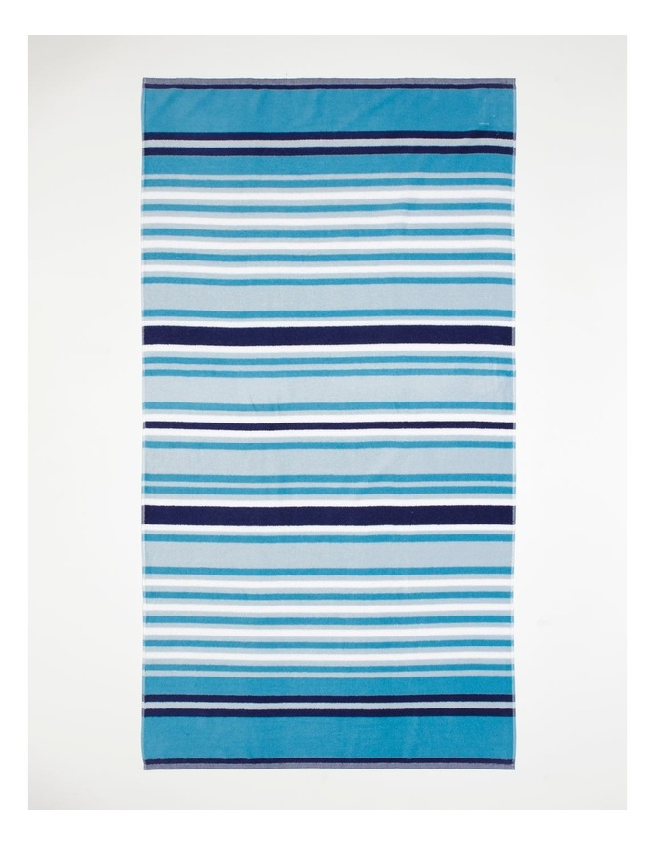 Santos Stripe Beach Towel: Oasis image 1