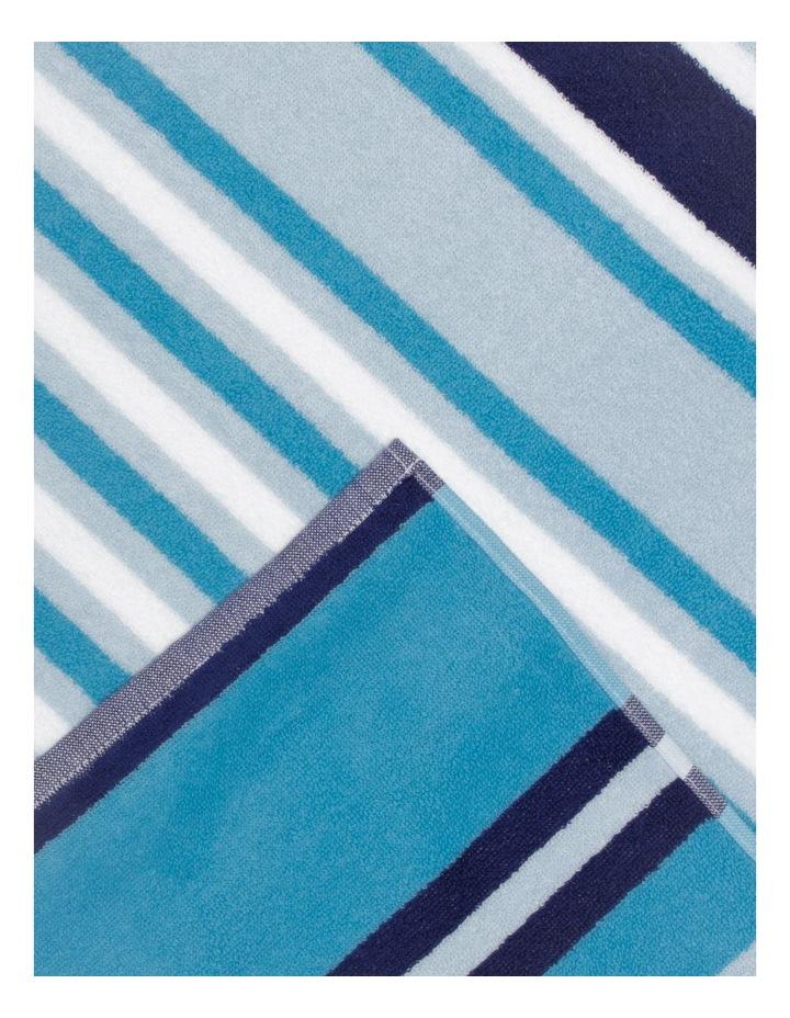 Santos Stripe Beach Towel: Oasis image 2