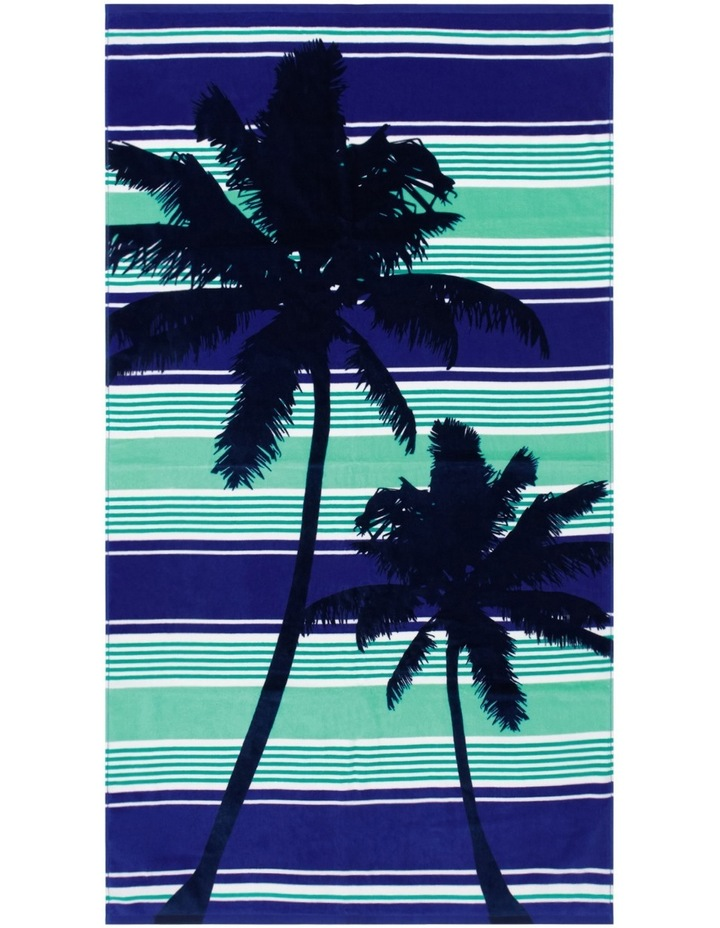 Harbour Velour Beach Towel: Palmy Nights image 1