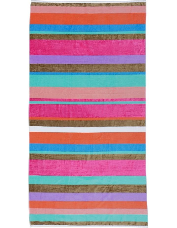 Peninsula Velour Beach Towel: Dawn Stripe image 1