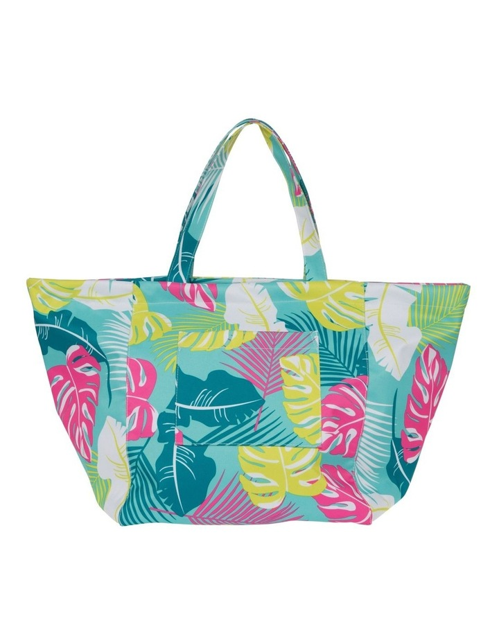 Leaf Print Tote Bag in Green image 1