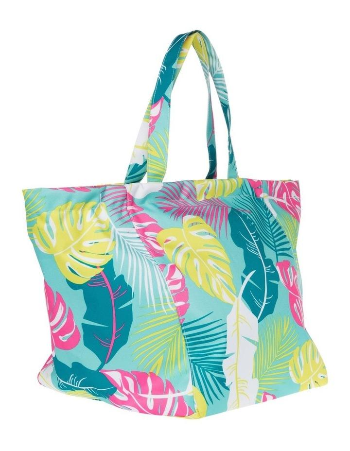 Leaf Print Tote Bag in Green image 2