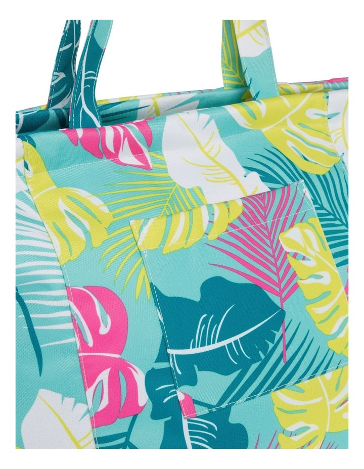 Leaf Print Tote Bag in Green image 3