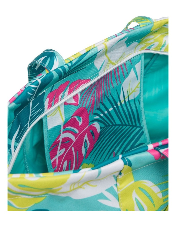 Leaf Print Tote Bag in Green image 4