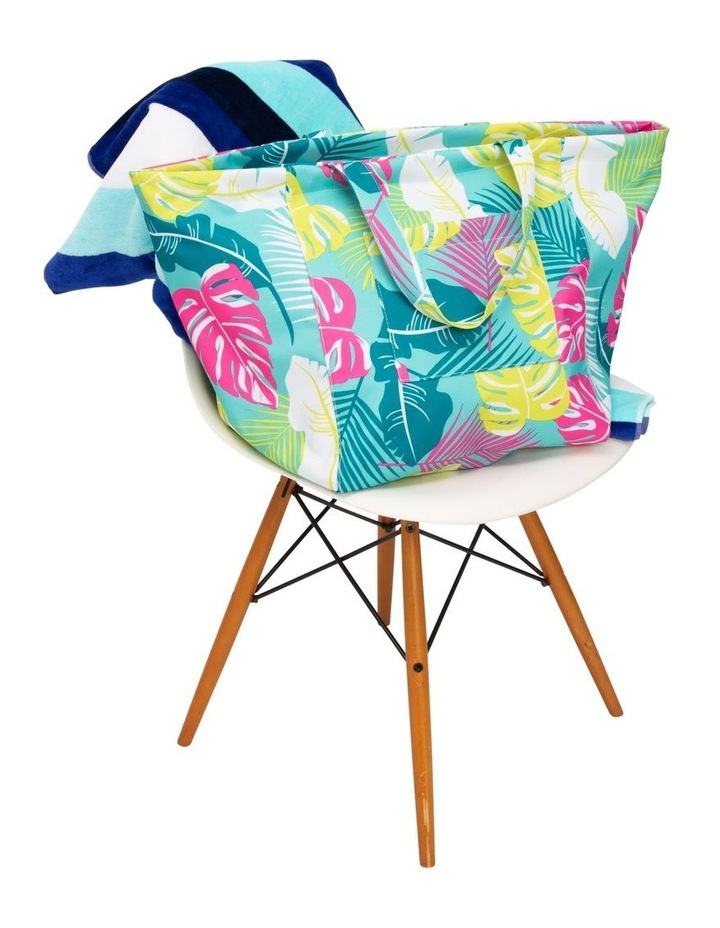 Leaf Print Tote Bag in Green image 5