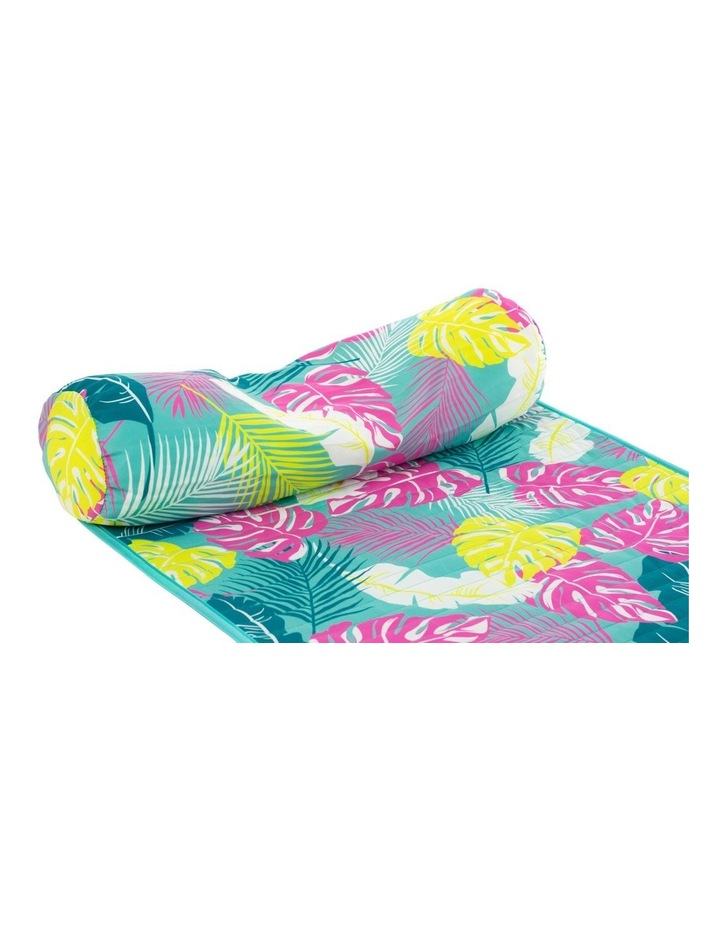 Leaf Print Roll up Mat in Green image 2