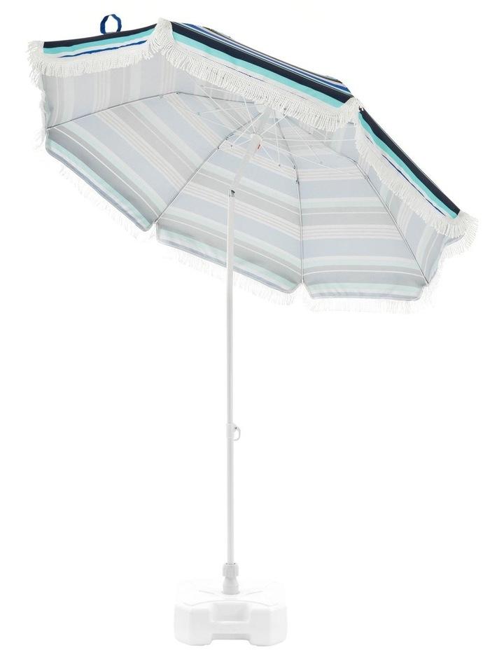 Stripe Beach Umbrella in Multicolour image 3