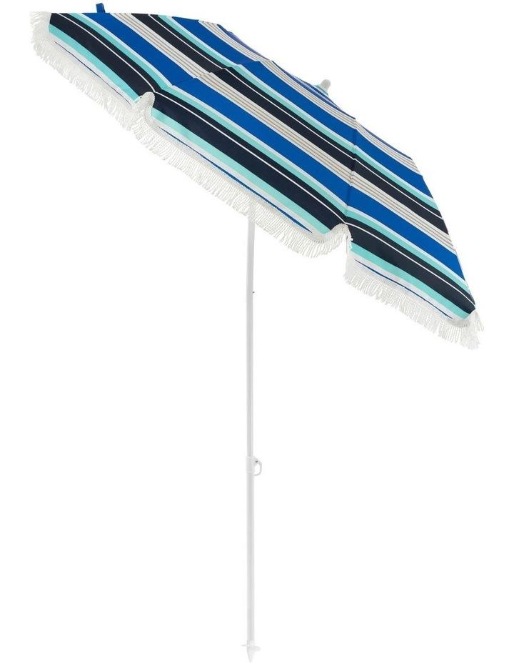 Stripe Beach Umbrella in Multicolour image 5