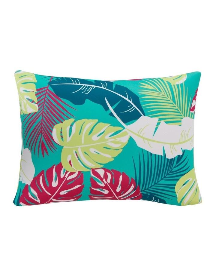 Leaf Beach Pillow in Aqua image 1