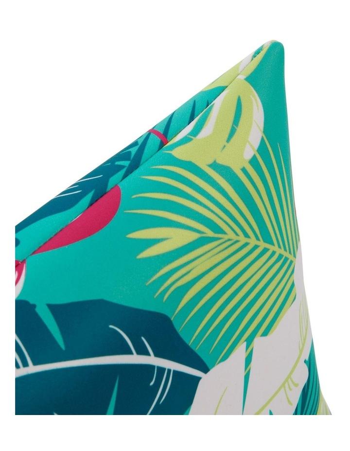 Leaf Beach Pillow in Aqua image 2