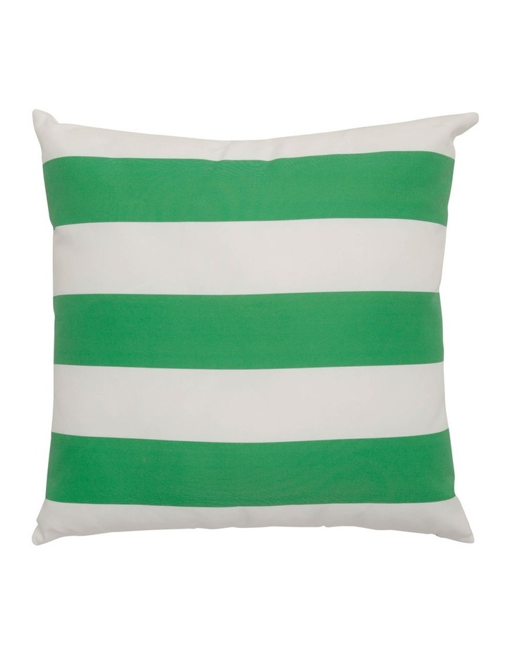 Cayman Stripe Outdoor Cushion in Green image 1