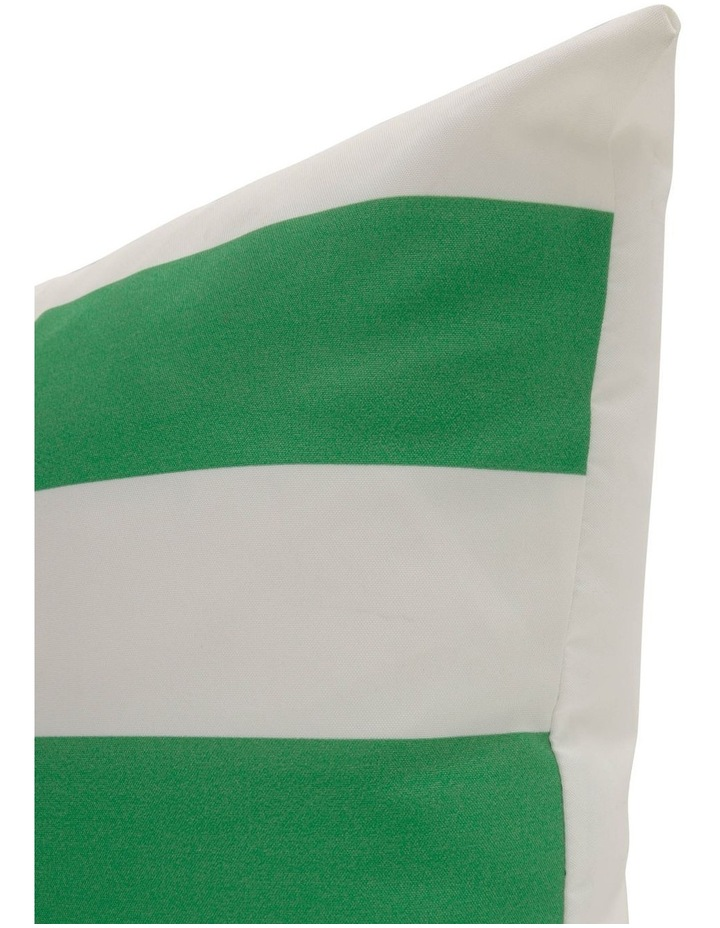 Cayman Stripe Outdoor Cushion in Green image 2