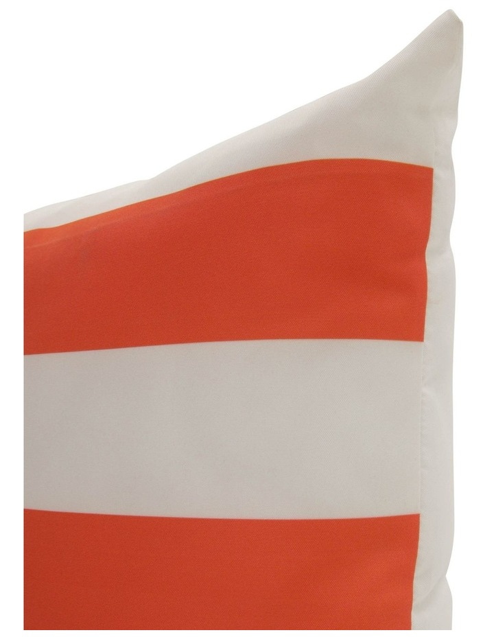 Cayman Stripe Outdoor Cushion in Orange image 2
