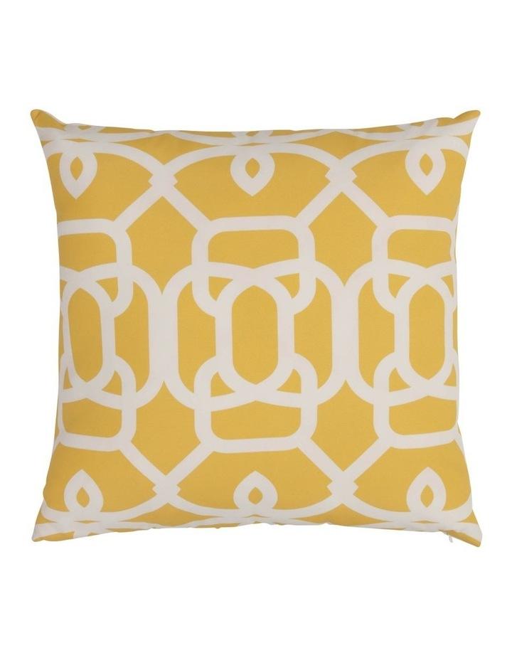 Baia Geo Outdoor Cushion in Yellow image 1