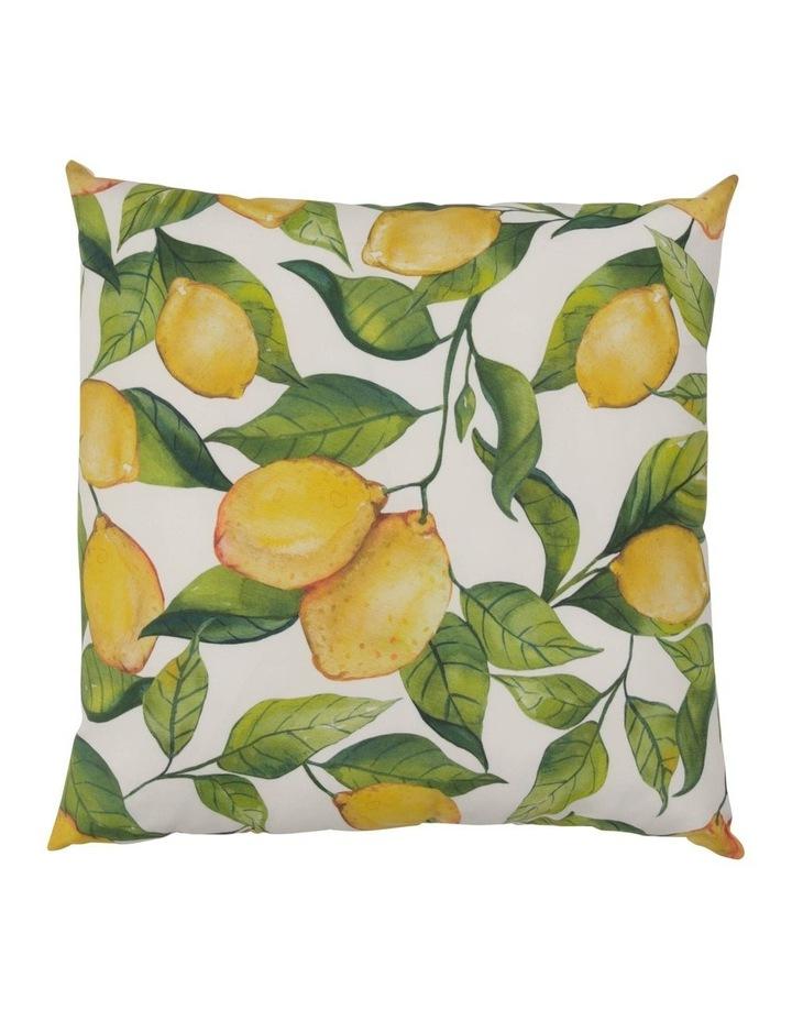 Salerno Lemon Outdoor Cushion in Yellow image 1