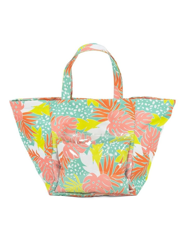 Bali Print Beach Tote With Pillow image 1