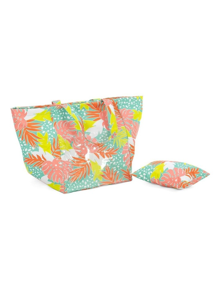 Bali Print Beach Tote With Pillow image 2