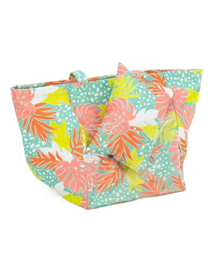Bali Print Beach Tote With Pillow image 3