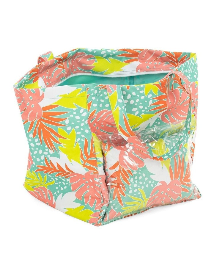 Bali Print Beach Tote With Pillow image 4