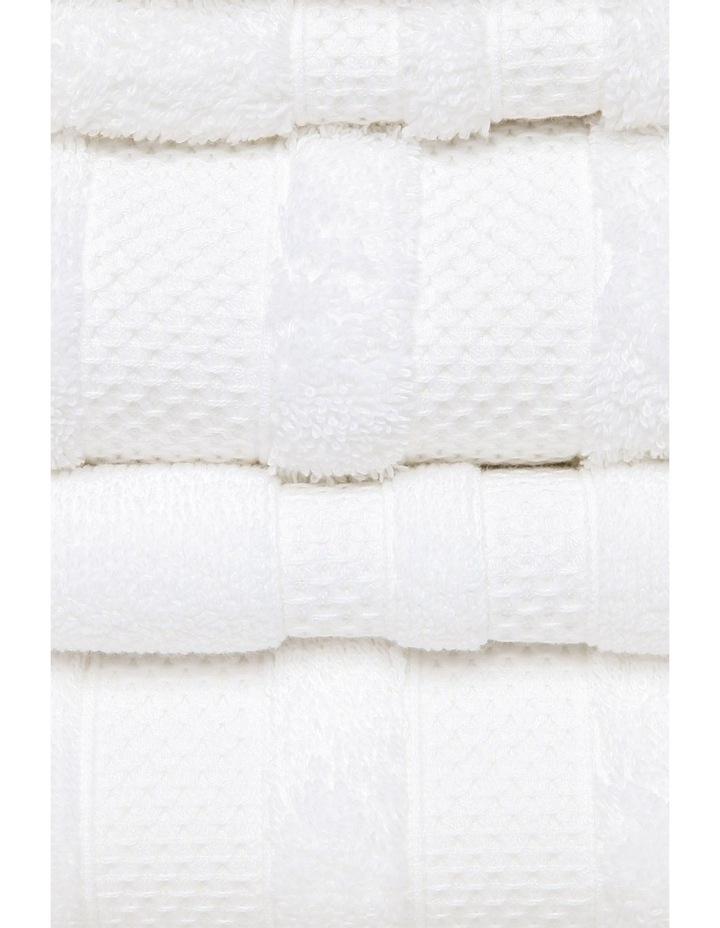 Premium Egyptian Cotton Towel Range in White image 3