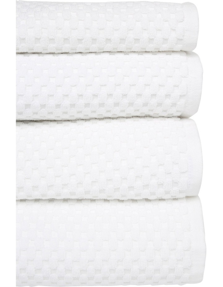 Classic Waffle Towel Range in White image 2