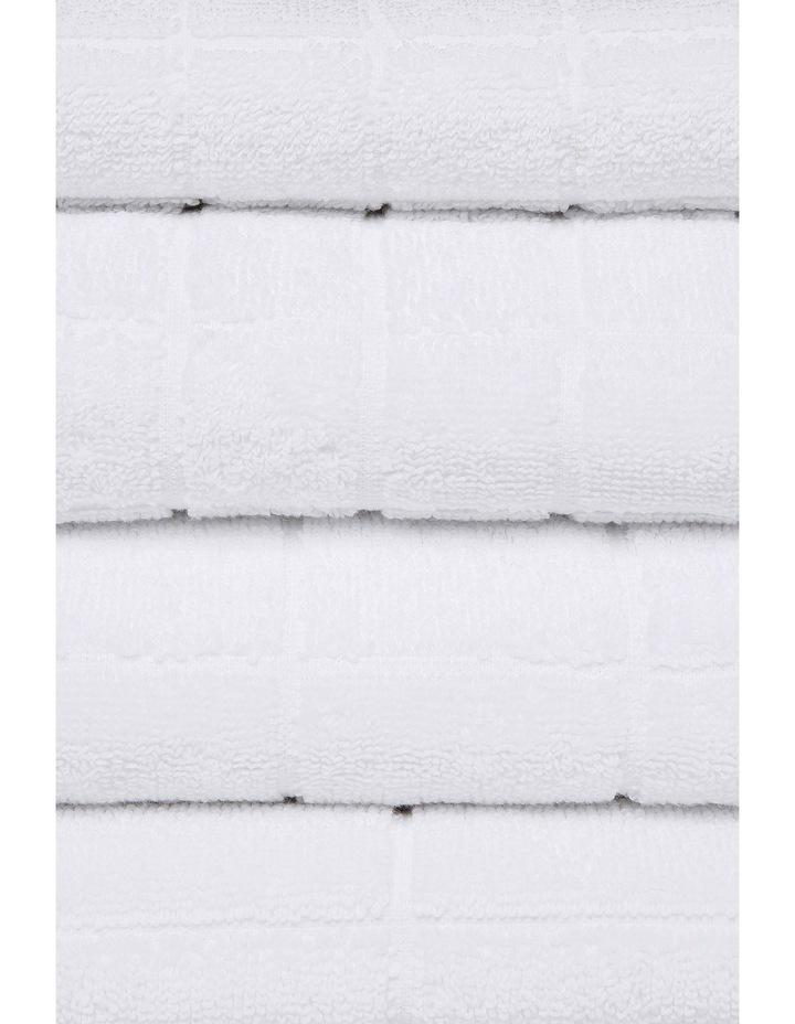 Boston Grid Towel Range in White image 2