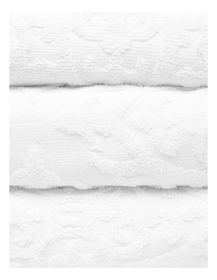 Juliette Damask Cotton Jacquard Towel Range in White image 2