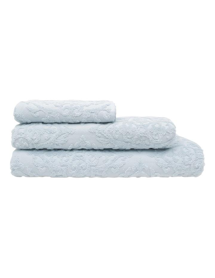 Juliette Damask Cotton Jacquard Towel Range in Carribean Mist image 1