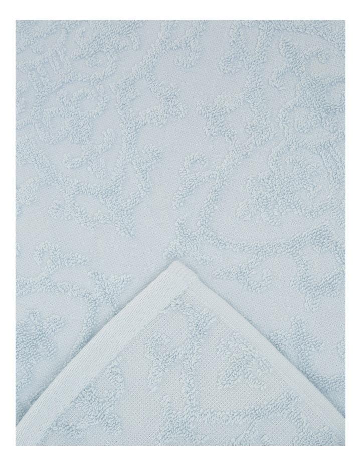 Juliette Damask Cotton Jacquard Towel Range in Carribean Mist image 3