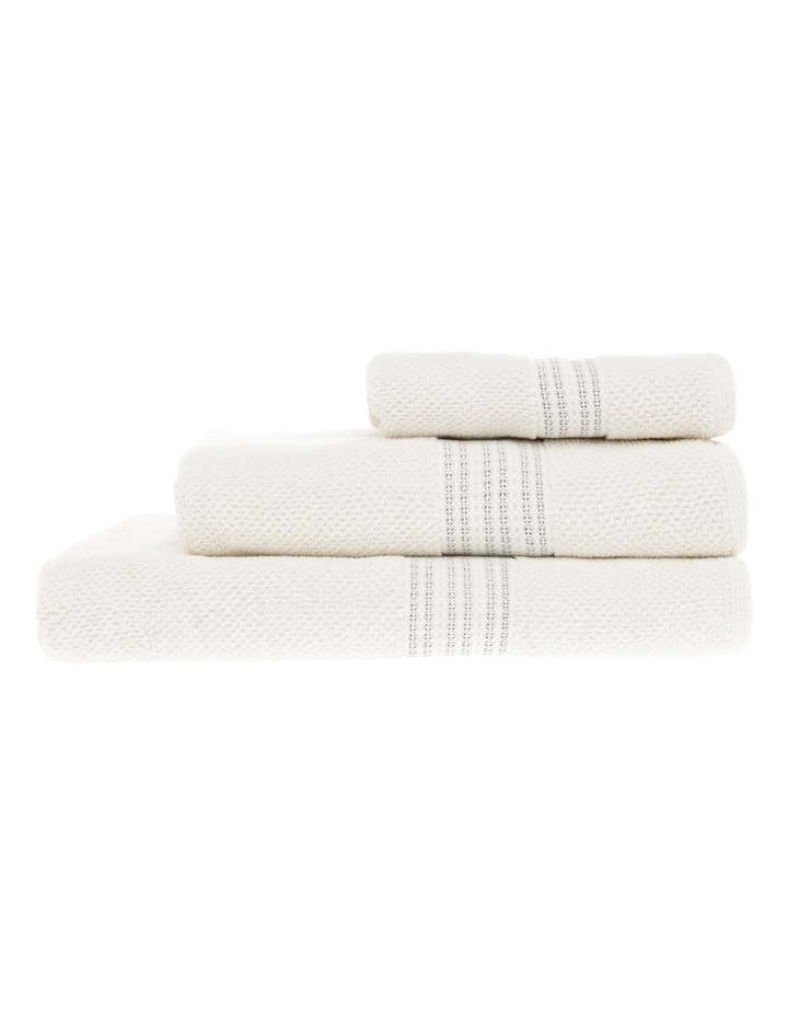 Cairo Boucle Cotton Towel Range in Cream/Black image 1