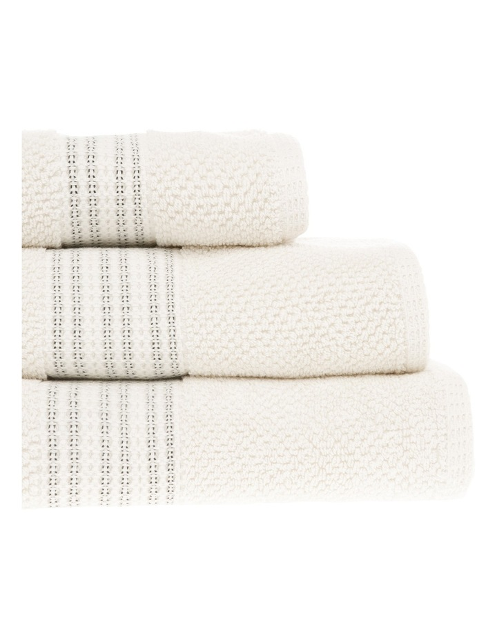 Cairo Boucle Cotton Towel Range in Cream/Black image 2