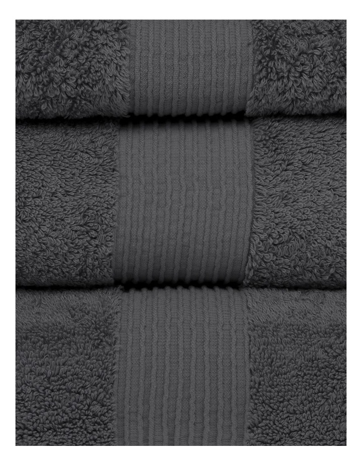 Natural Australian Cotton Towel Range in Charcoal image 2