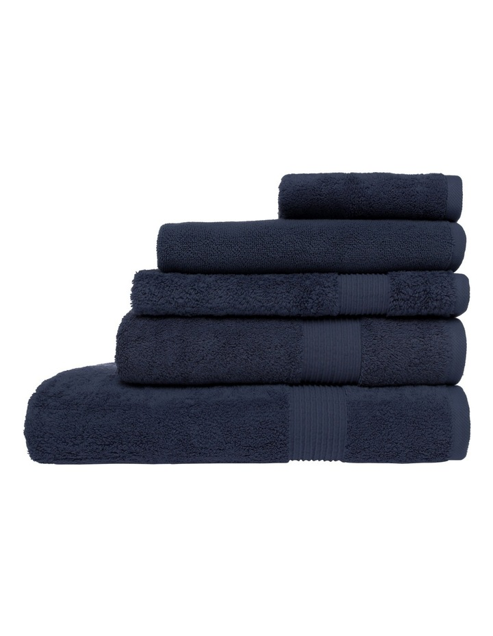 Natural Australian Cotton Towel Range in Navy image 1