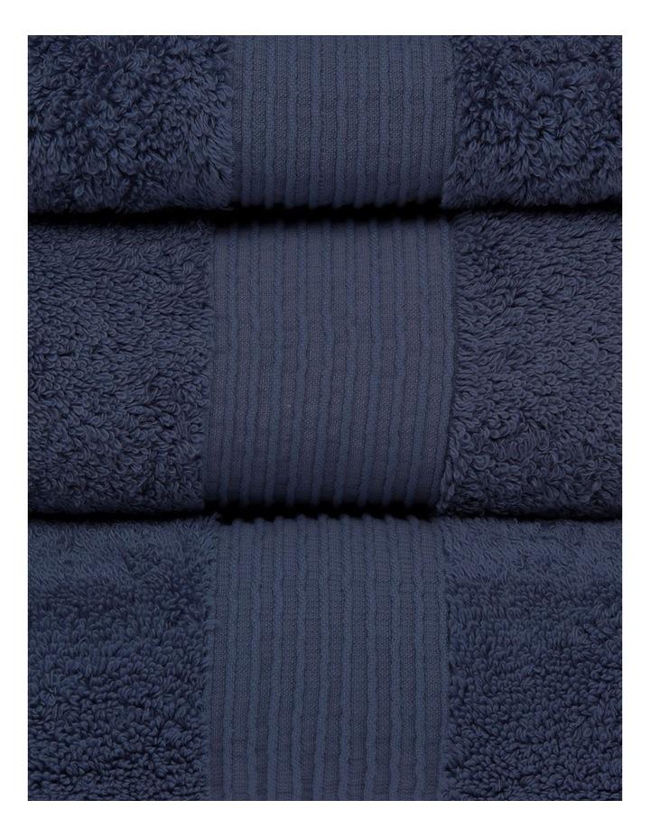 Natural Australian Cotton Towel Range in Navy image 2