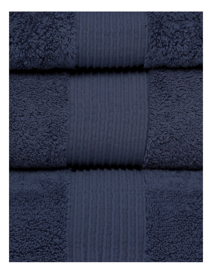 Natural Australian Cotton Towel Range in Navy image 2