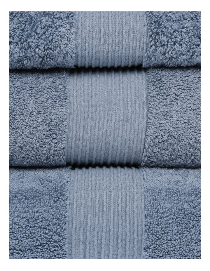 Natural Australian Cotton Towel Range in Celestial Blue image 2