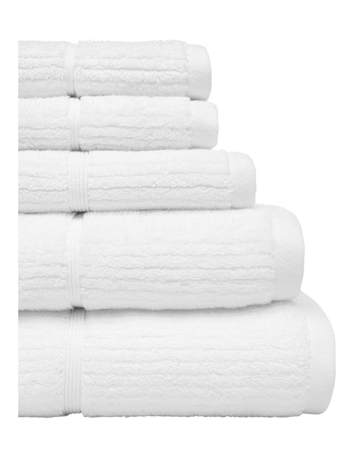 Combed Cotton Ribbed Towel Range in White image 2