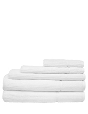 Vue - Combed Cotton Ribbed Towel Range in White