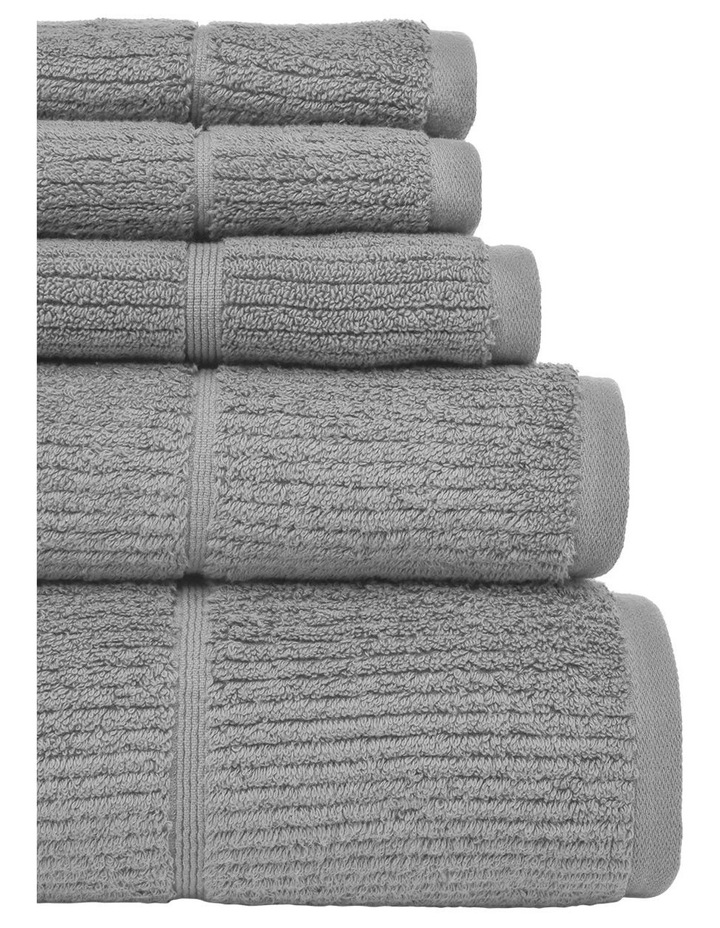 Combed Cotton Ribbed Towel Range in Silver image 2