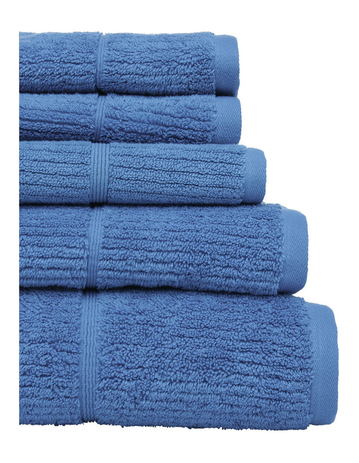 Combed Cotton Ribbed Towel Range in Denim image 2