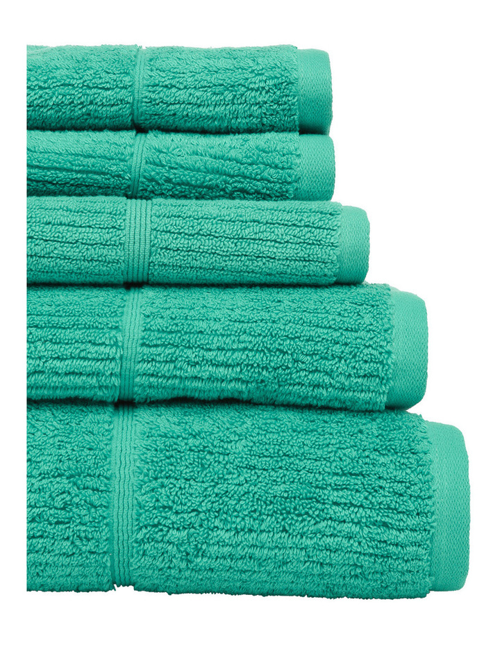 Combed Cotton Ribbed Towel Range in Mint image 2