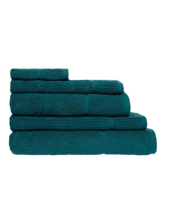 Combed Cotton Ribbed Towel Range in Emerald image 1