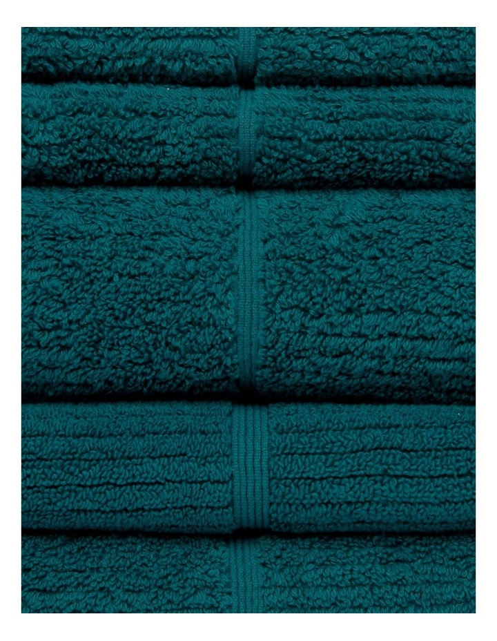 Combed Cotton Ribbed Towel Range in Emerald image 2