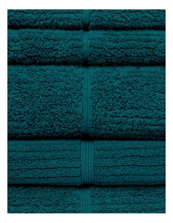 Combed Cotton Ribbed Towel Range in Emerald image 3