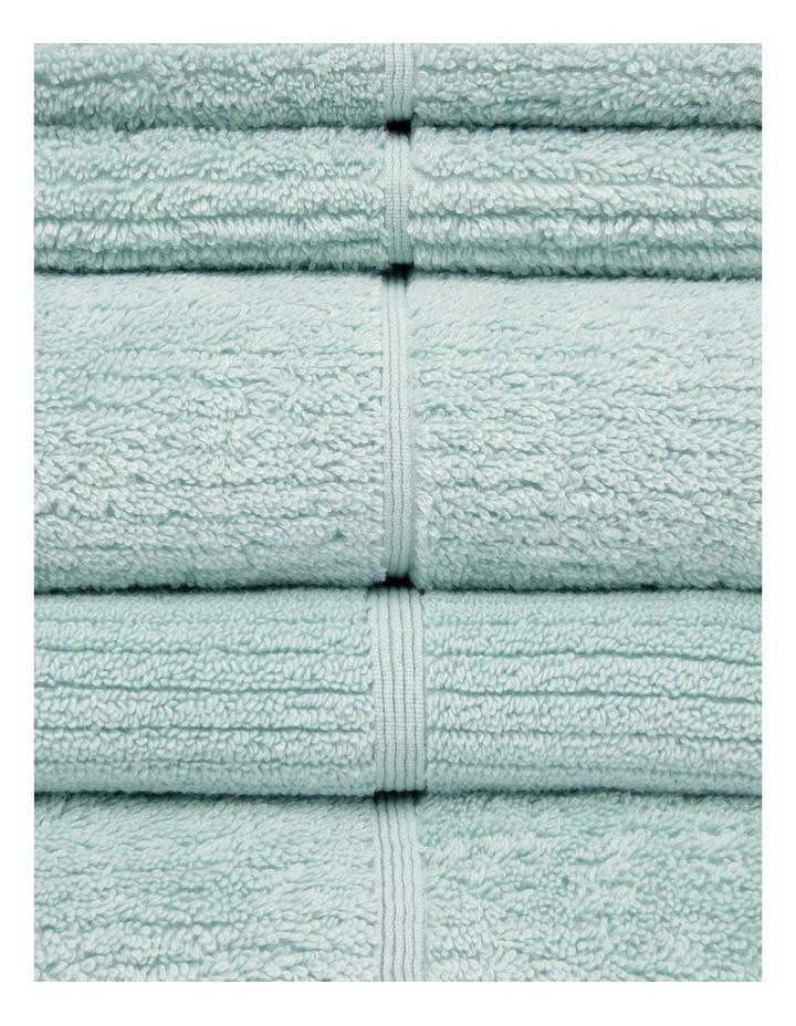 Combed Cotton Ribbed Towel Range in Aqua image 2