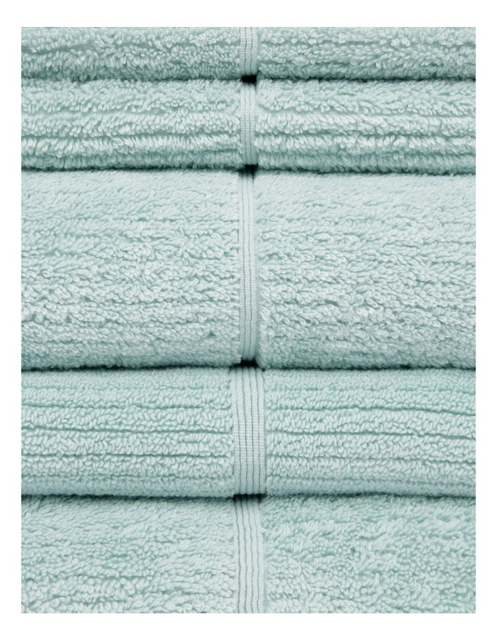 Combed Cotton Ribbed Towel Range in Aqua image 2