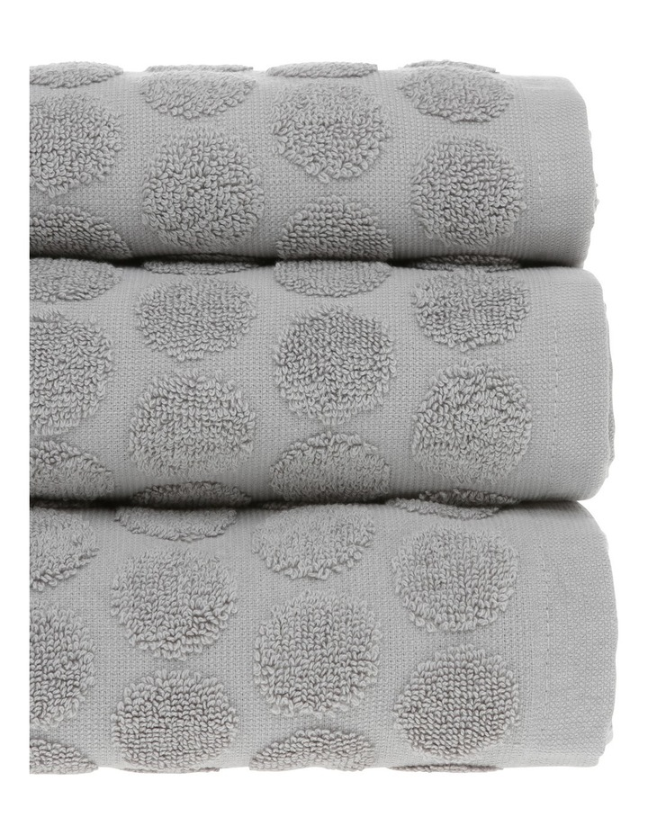 Nevada Cotton Jacquard Towel Range in Alloy image 2