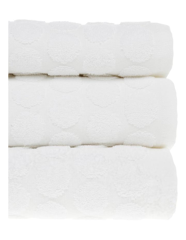 Nevada Cotton Jacquard Towel Range in White image 2