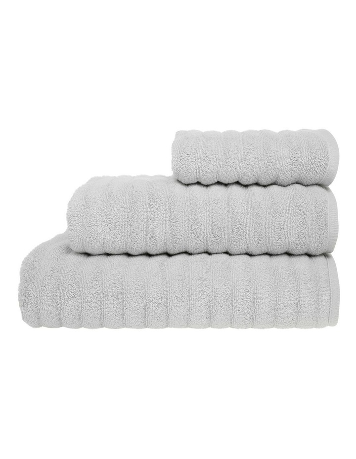 Gambier Ribbed Cotton Towel Range in Charcoal image 1